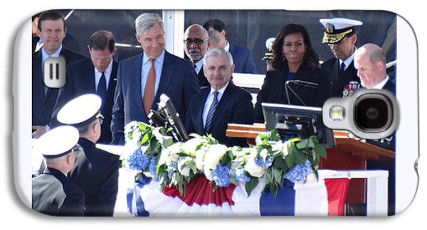 First Lady Michelle Obama At The Christening Of The Illinois Ssn 786 Galaxy S4 Case