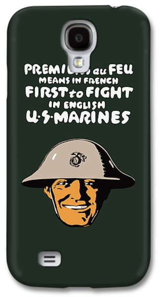 First To Fight - Us Marines Galaxy S4 Case by War Is Hell Store