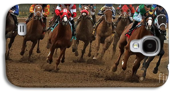 First Turn At Keeneland Galaxy S4 Case by Angela G