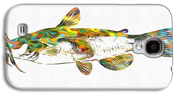 Fish Art Catfish Galaxy S4 Case by Dan Sproul