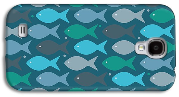 Fish Blue  Galaxy S4 Case by Mark Ashkenazi