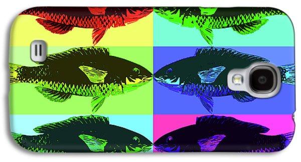 Galaxy S4 Case featuring the digital art Fish Dinner Pop Art by Nancy Merkle