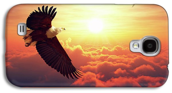 Fish Eagle Flying Above Clouds Galaxy S4 Case