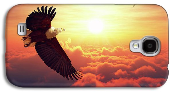 Fish Eagle Flying Above Clouds Galaxy S4 Case by Johan Swanepoel
