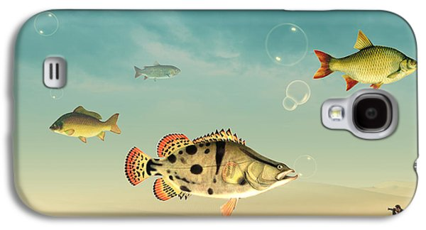 Fish Life  Galaxy S4 Case by Mark Ashkenazi