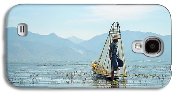 Burmese Python Galaxy S4 Case - Fisherman by Delphimages Photo Creations