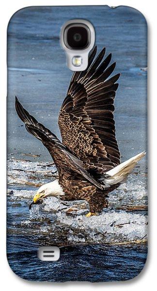 Fishing Bald Eagle Galaxy S4 Case by Paul Freidlund