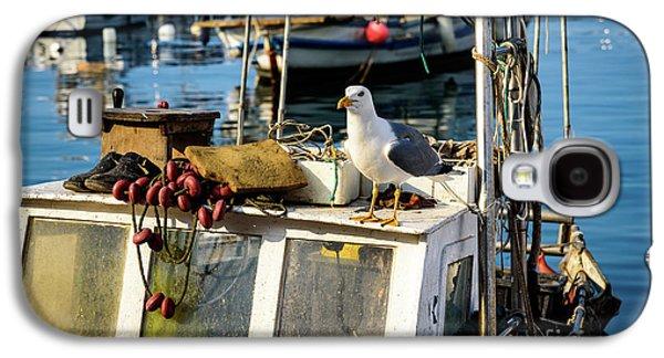Fishing Boat Captain Seagull - Rovinj, Croatia Galaxy S4 Case