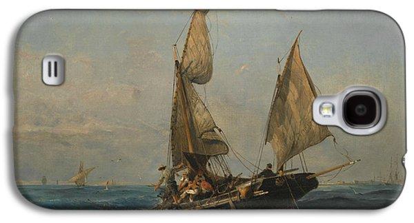 Fishing Boat In Choppy Waters Galaxy S4 Case