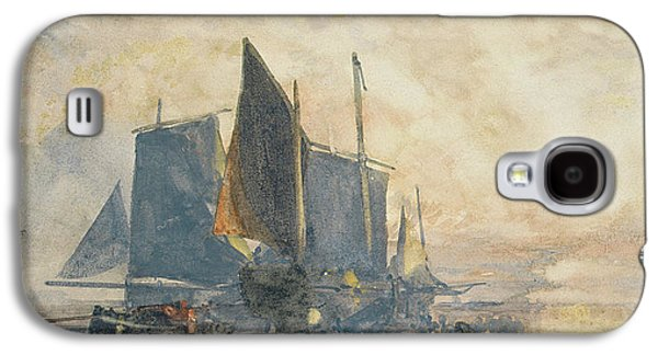 Fishing Boats At Anchor   Sunset Galaxy S4 Case by William Roxby Beverly