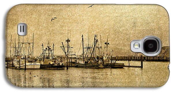 Fishing Boats Columbia River In Sepia Galaxy S4 Case