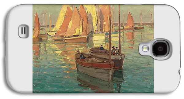 Fishing Boats In A Harbor Galaxy S4 Case