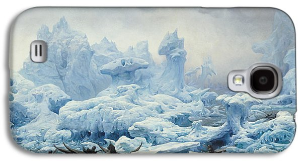 Fishing For Walrus In The Arctic Ocean Galaxy S4 Case by Francois Auguste Biard