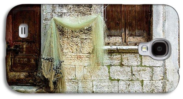 Fishing Net Hanging In The Streets Of Rovinj, Croatia Galaxy S4 Case