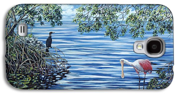 Spoonbill Galaxy S4 Case - Fishing The Mangroves by Danielle  Perry