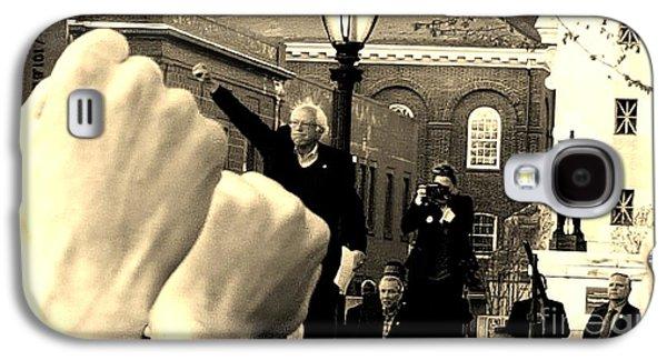 Fists Up, Bernie Sanders, New Haven, Ct Galaxy S4 Case by Dani McEvoy
