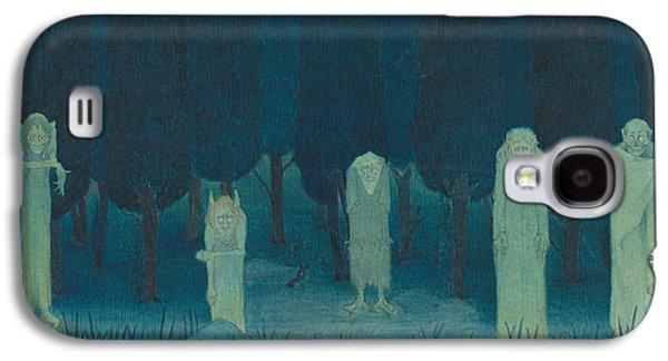 Five Ghouls Galaxy S4 Case by Herbert Crowley
