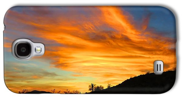 Flaming Hand Sunset Galaxy S4 Case