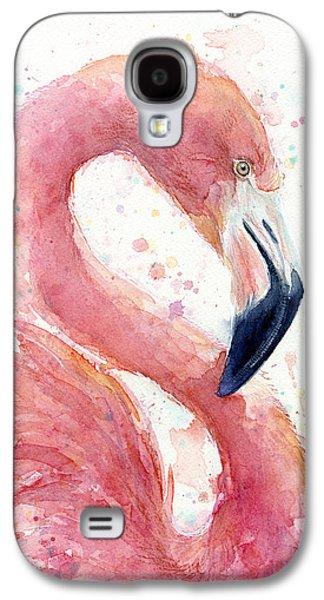 Flamingo - Facing Right Galaxy S4 Case by Olga Shvartsur