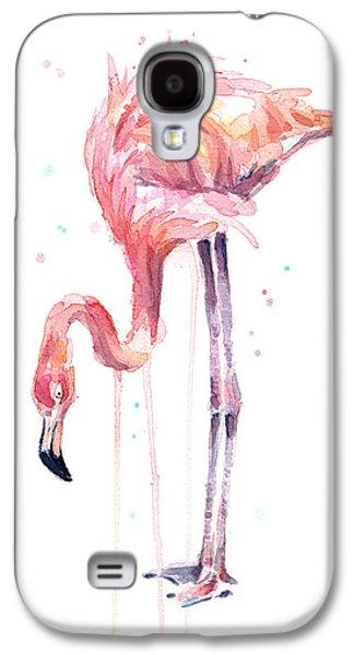 Flamingo Illustration Watercolor - Facing Left Galaxy S4 Case