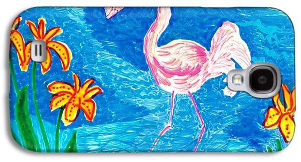 Bird Ceramics Galaxy S4 Cases - Flamingo Galaxy S4 Case by Sushila Burgess