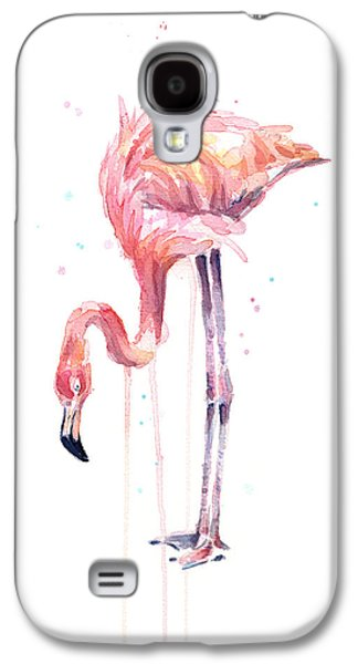 Flamingo Watercolor - Facing Left Galaxy S4 Case
