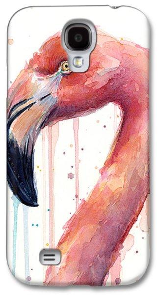 Flamingo Watercolor Illustration Galaxy S4 Case