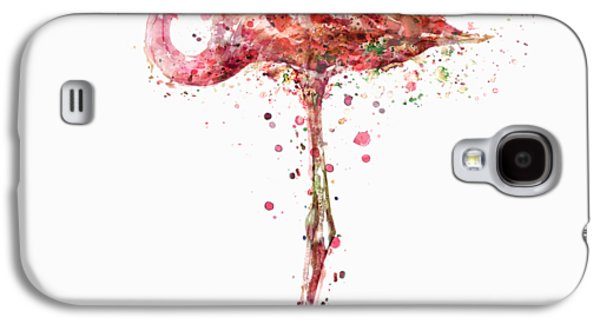 Flamingo Watercolor Painting Galaxy S4 Case by Marian Voicu
