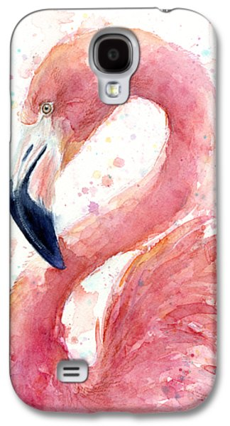 Flamingo Watercolor Painting Galaxy S4 Case