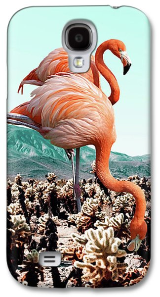 Flamingos In The Desert Galaxy S4 Case
