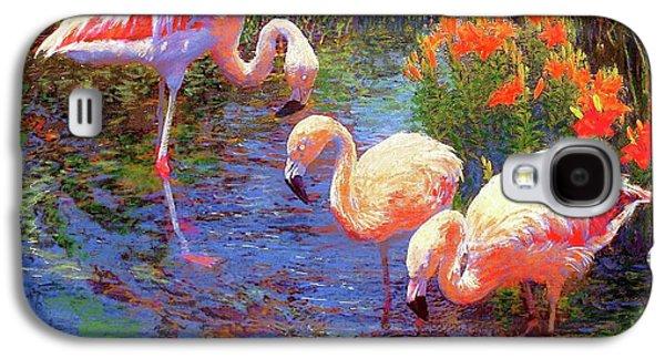 Flamingos, Tangerine Dream Galaxy S4 Case by Jane Small