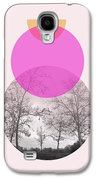 Flare In Pink And Yellow- Art By Linda Woods Galaxy S4 Case by Linda Woods