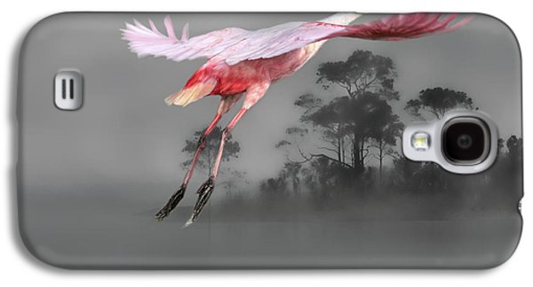 Spoonbill Galaxy S4 Case - Flash Of Pink by Donna Kennedy