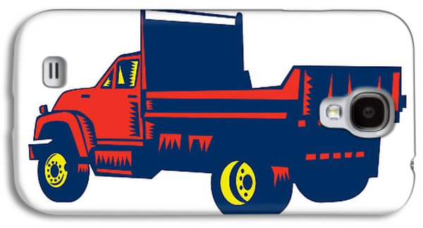 Flatbed Truck Woodcut Galaxy S4 Case