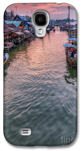 Floating Market Sunset Galaxy S4 Case by Adrian Evans