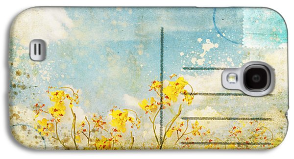 Floral In Blue Sky Postcard Galaxy S4 Case by Setsiri Silapasuwanchai