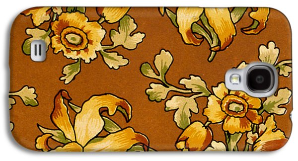 Floral Textile Design Galaxy S4 Case by English School