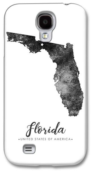 Florida State Map Art - Grunge Silhouette Galaxy S4 Case