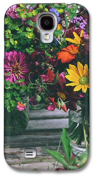 Flower Jars Galaxy S4 Case by Happy Home Artistry