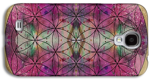 Flower Of Life Galaxy S4 Cases - Flower of Life Galaxy S4 Case by Filippo B