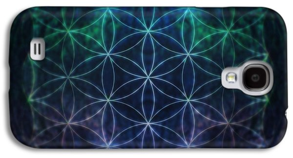 Flower Of Life Neon Galaxy S4 Case by Edouard Coleman