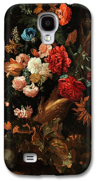 Flower Plot With Gelbbauchunke And Snake Galaxy S4 Case by Ernst Stuven