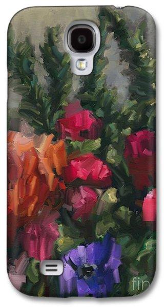 Flower Run Galaxy S4 Case by Carrie Joy Byrnes