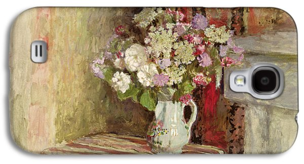 Flowers In A Vase Galaxy S4 Case by Edouard Vuillard