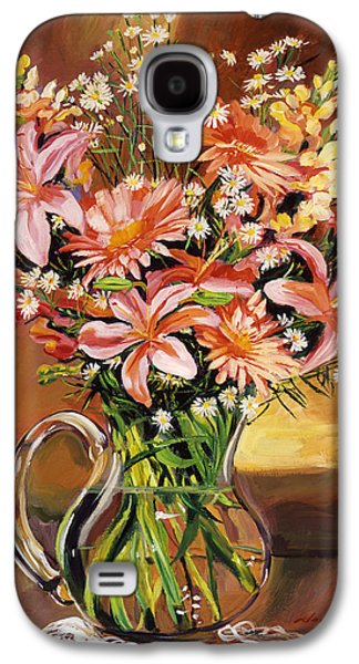 Flowers In Glass Galaxy S4 Case by David Lloyd Glover