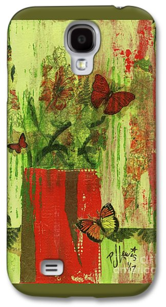 Flowers,butteriflies, And Vase Galaxy S4 Case