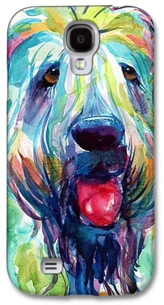Colorful Galaxy S4 Case - Fluffy Wheaten Terrier Portrait By by Svetlana Novikova