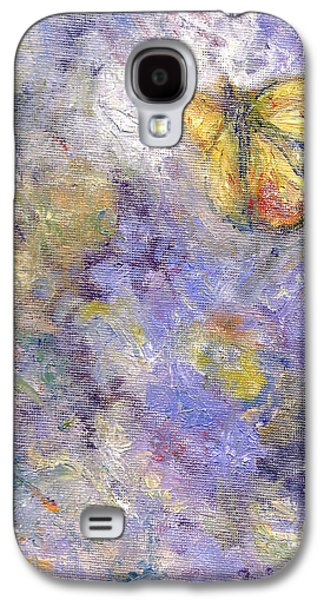 Flutterby - Original Butterfly In Flight Painting Galaxy S4 Case