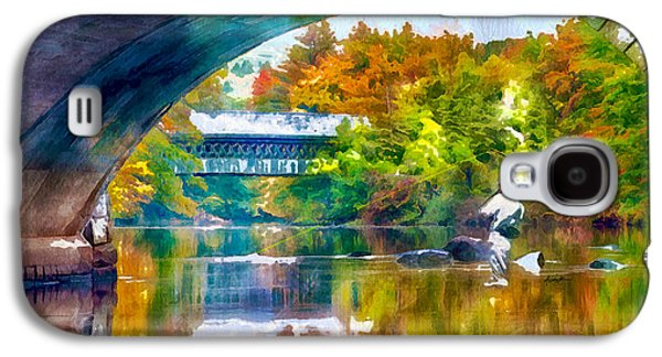 Fly Fishing In New England Galaxy S4 Case by Anthony Caruso