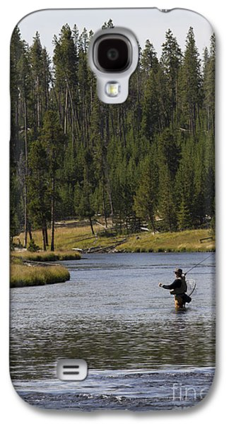 Fly Fishing In The Firehole River Yellowstone Galaxy S4 Case